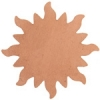Metal Blank 24ga Copper Sun 32mm No Hole